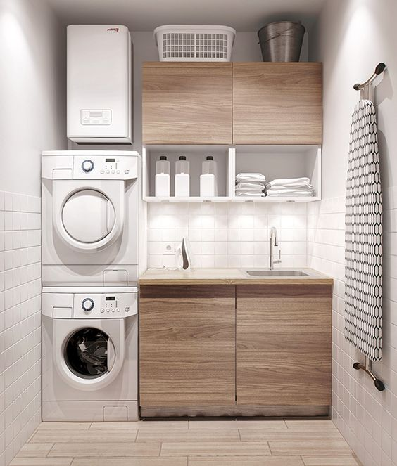 40 small laundry room ideas and designs renoguide for Laundry room plans