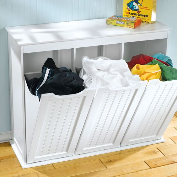 tilt out laundry hamper cabinet