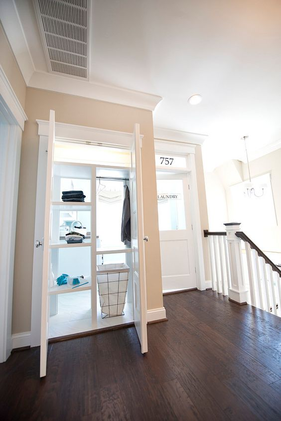stairs landing laundry room