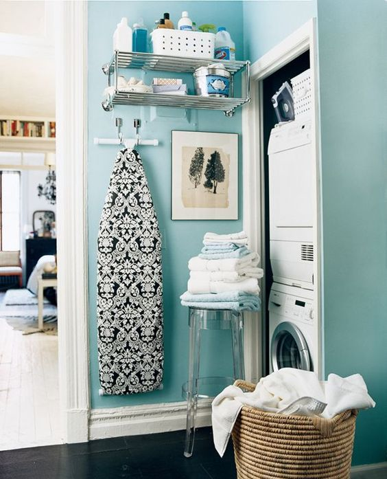 small corner nook laundry