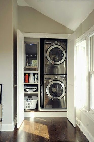 hallway nook laundry closet