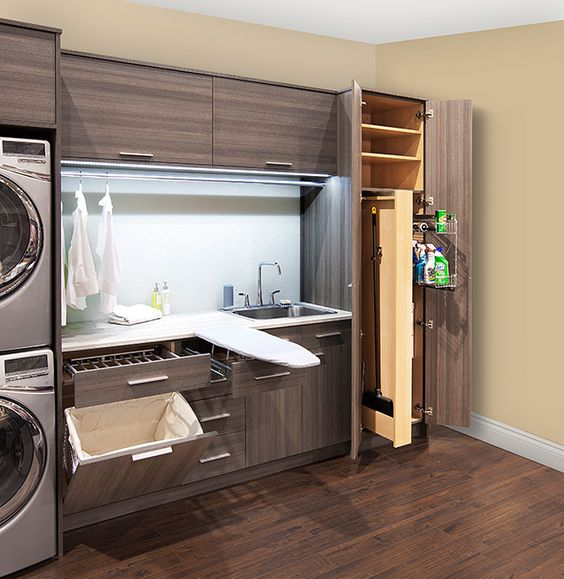 modern wall laundry unit
