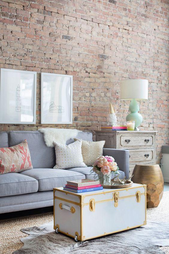chic soho apartment living room