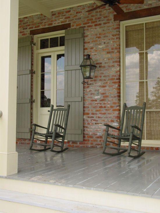 farmhouse verandah with rockers