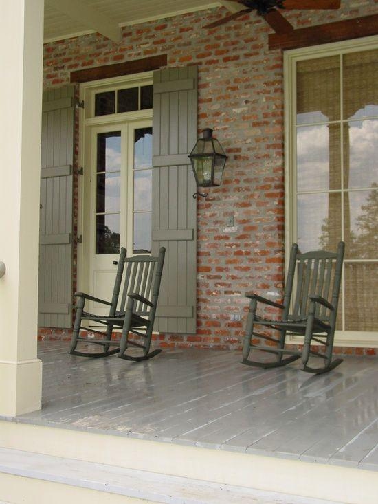 farmhouse verandah with rockers