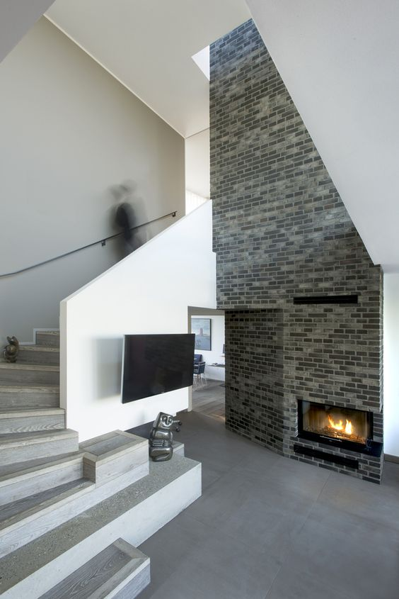 modern two storey foyer