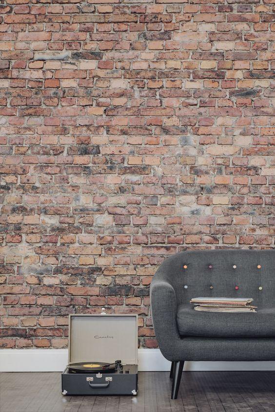 rough and aged brick wall