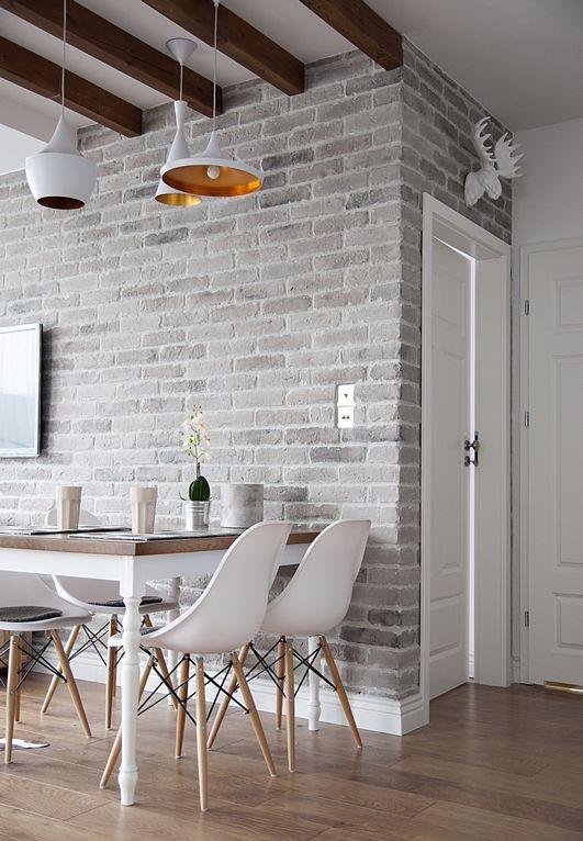 rustic Scandinavian dining space