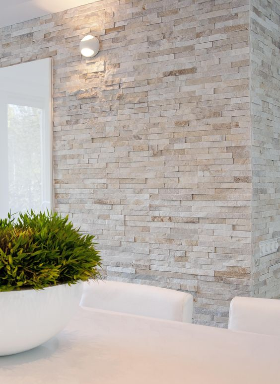 modern pale brick wall