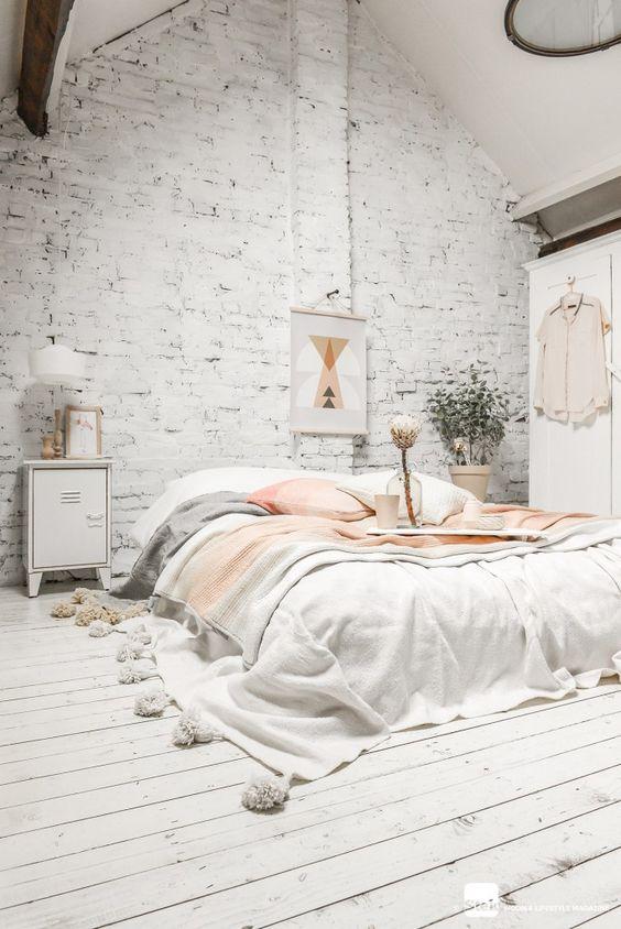 Bohemian apartment loft bedroom