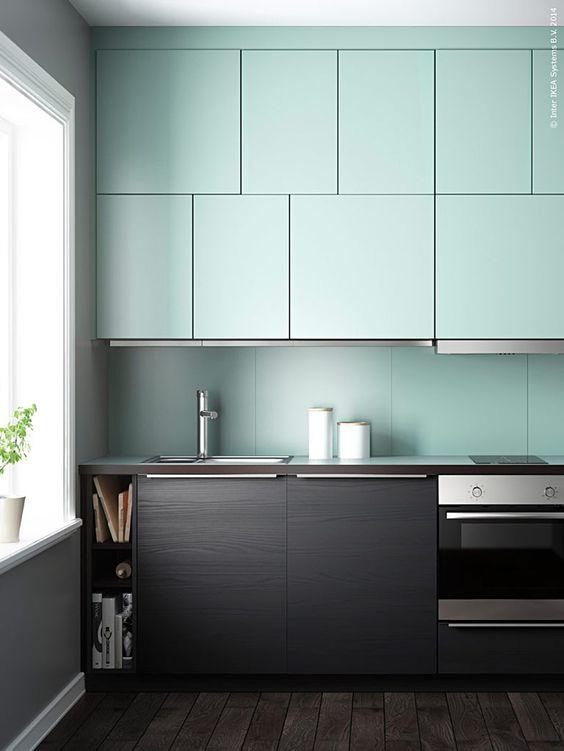 modern mint kitchen