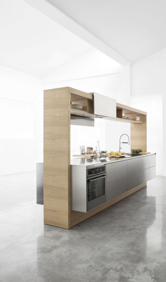 Modern Kitchen Images Ideas Part - 46: Modern Freestanding Modular Kitchen
