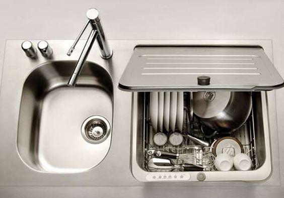 modern chrome kitchen sink