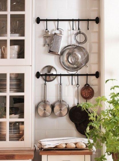kitchen wall racks and hooks