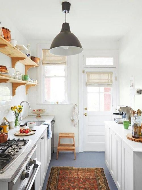 small cottage galley kitchen