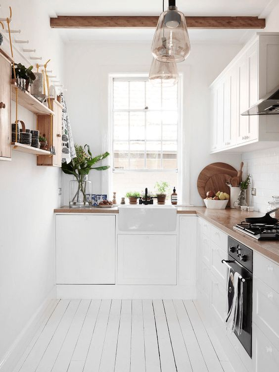 Wonderful Classic Small White Kitchen