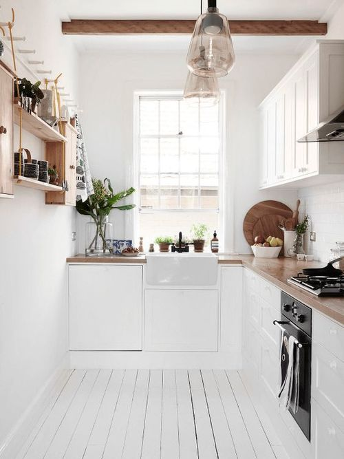 classic small white kitchen