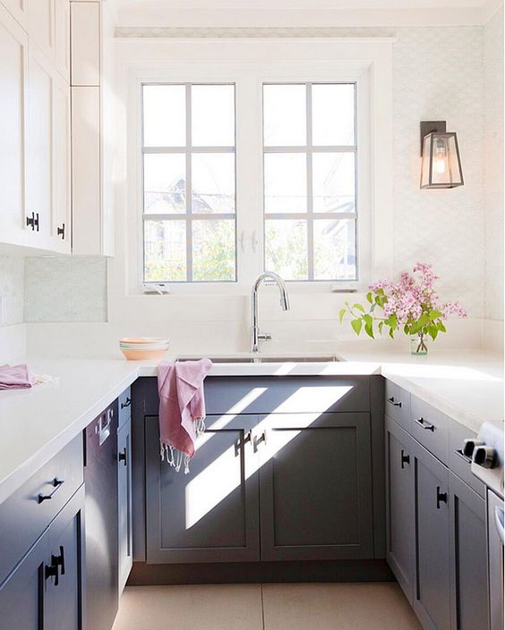 small well lighted kitchen
