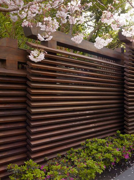 oriental wooden fence