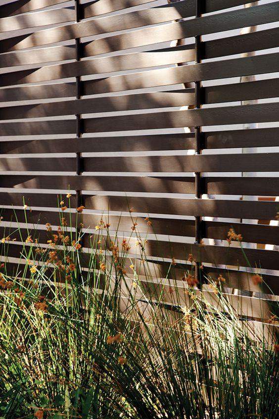 metal slat fence