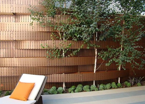 perforated metal fence