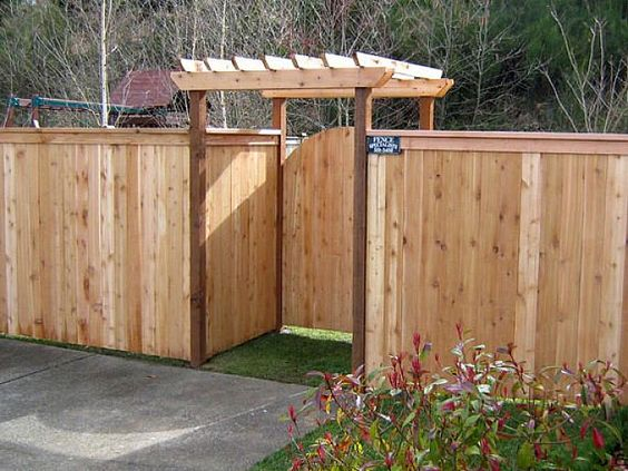 fence and pergola combo