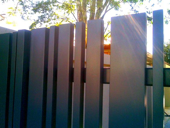 vertical metal fence
