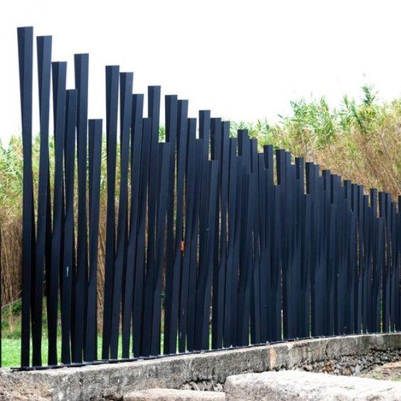 современный забор stell
