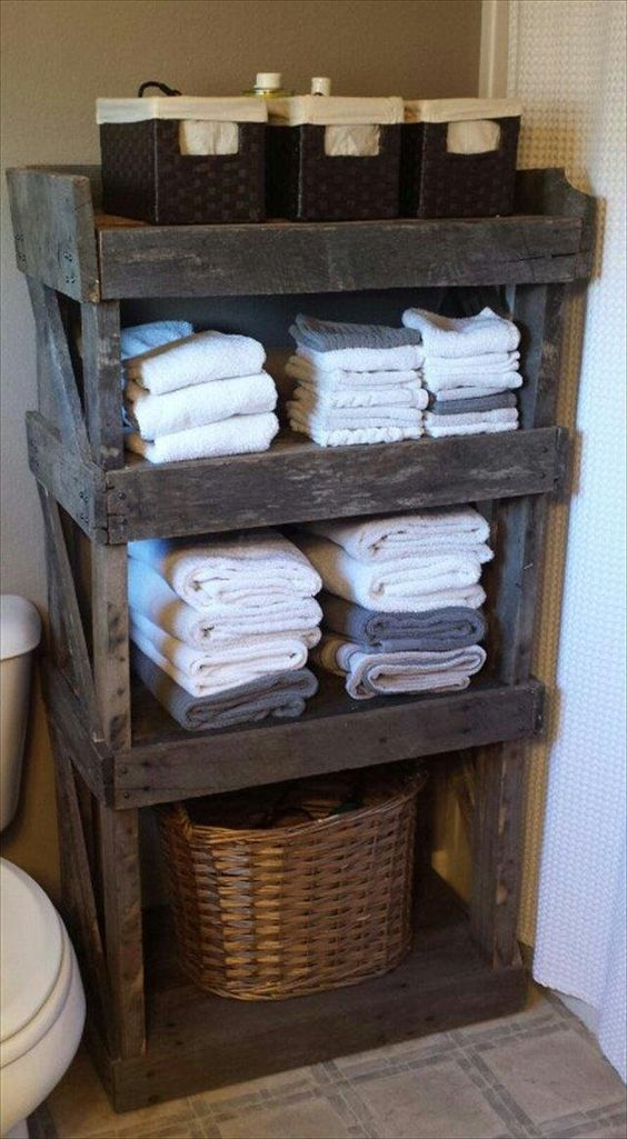pallet bathroom organiser