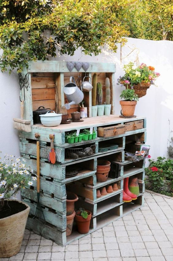 gardener's potting bench
