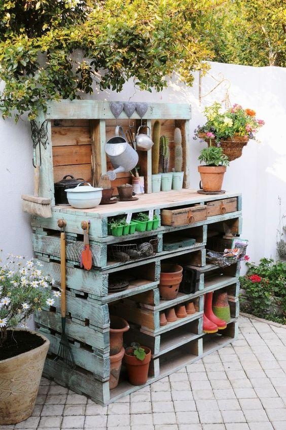 gardener's potting bench