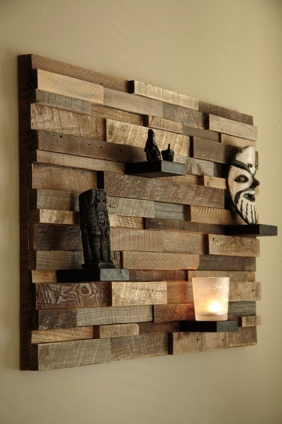 Tiki wall wood art