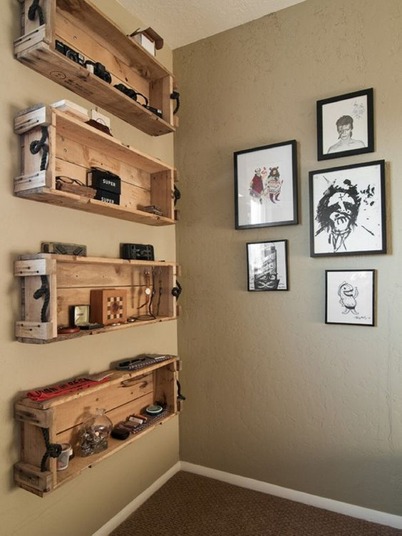 pallet box shelves