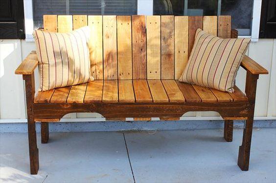 verandah pallet bench