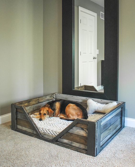 pallet dog bed box