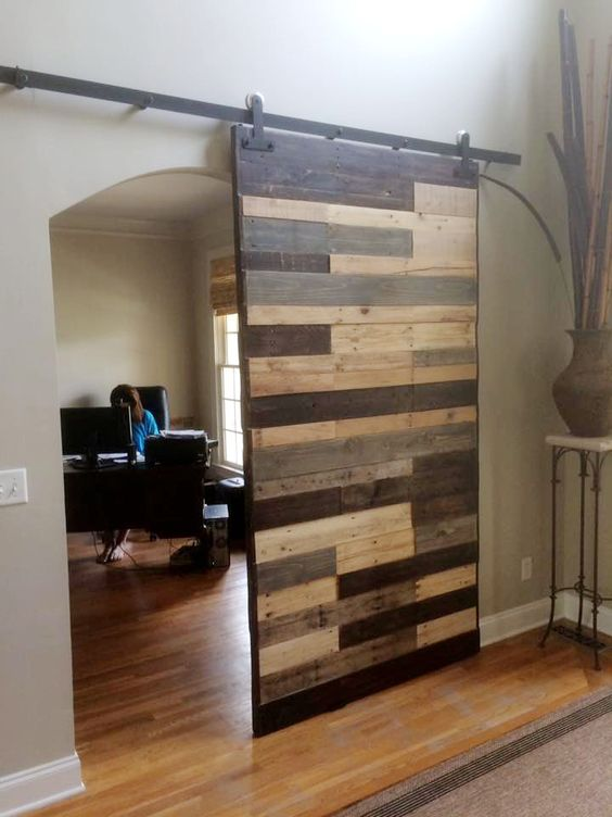 sliding pallet barn door