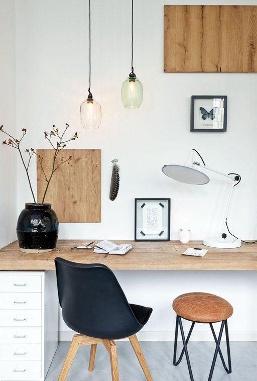 Scandinavian style study area