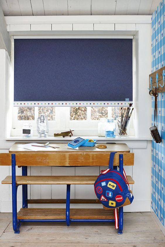 blue study room