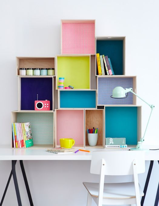 colourful study desk