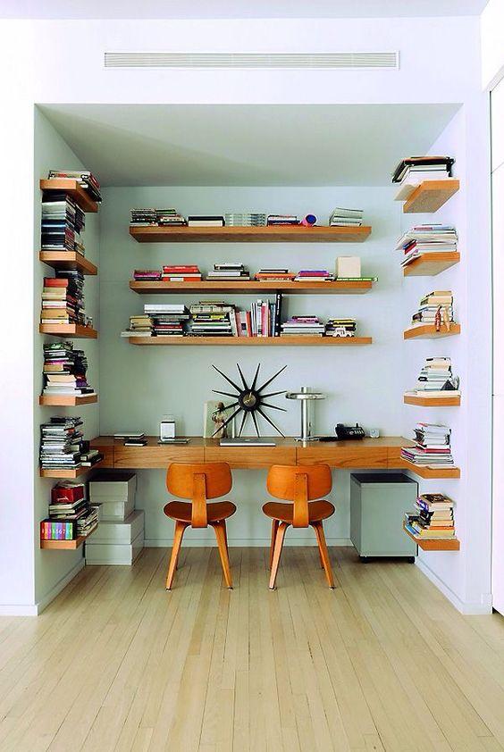 modern study nook