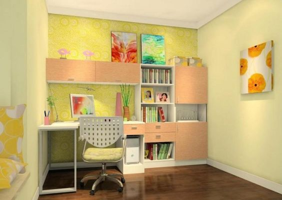 yellow study room
