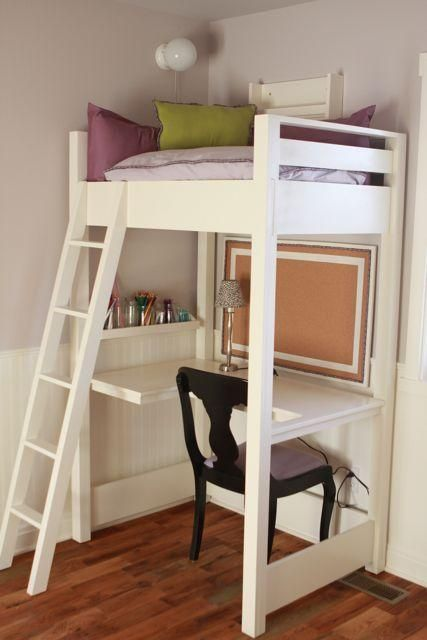 reading loft and study desk combi