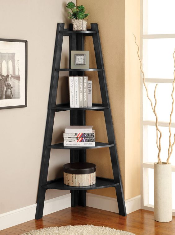 corner ladder shelf