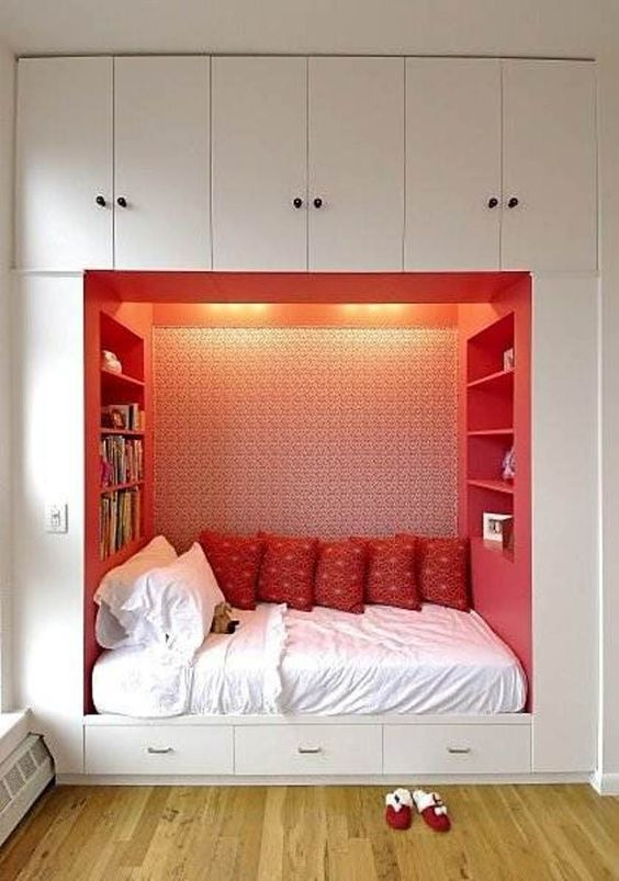 ideas small bedrooms. bed nook 50 Nifty Small Bedroom Ideas and Designs  RenoGuide