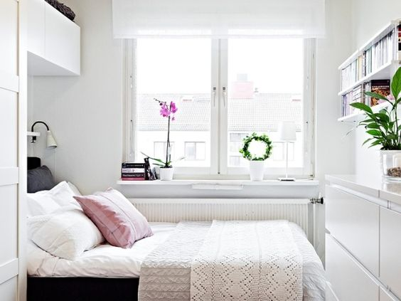 Wonderful White Apartment Bedroom