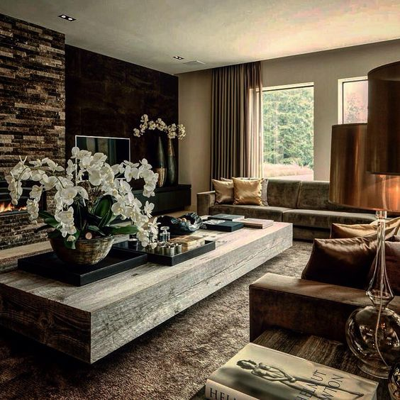 rustic country living room