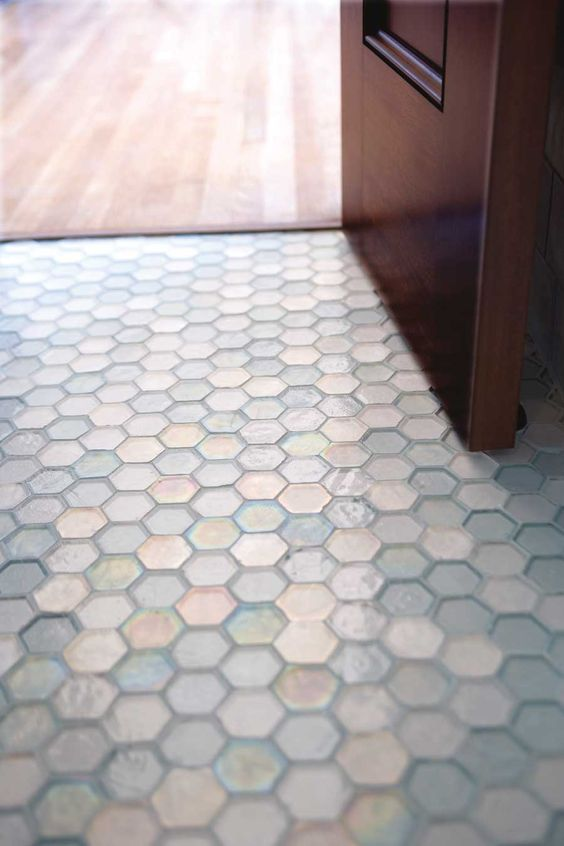 homeycomb glass tile floor - Images Of Bathroom Floors