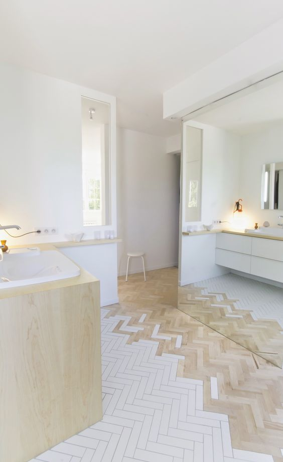 modern Scandinavian style bathroom