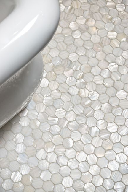 pearl tile bathroom floor