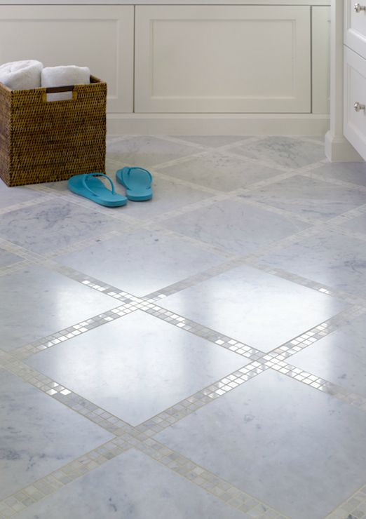 Classic Marble Bathroom Floor